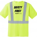 Sfety first ANSI Safety Wear by Lost Bay Designs™