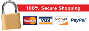 Secure Shopping Visa MasterCard Discover American Express PayPal