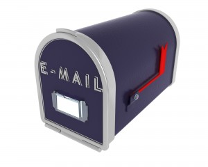 3D render of a mail box